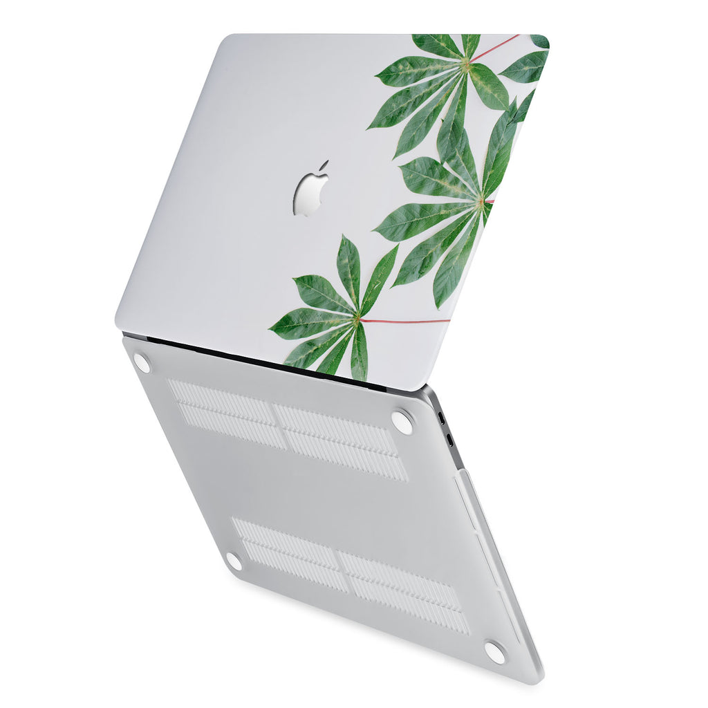 hardshell case with Flat Flower design has rubberized feet that keeps your MacBook from sliding on smooth surfaces