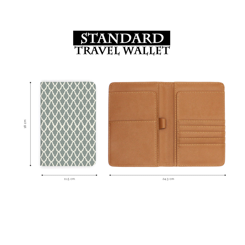 standard size of personalized RFID blocking passport travel wallet with Elegant Pattern design