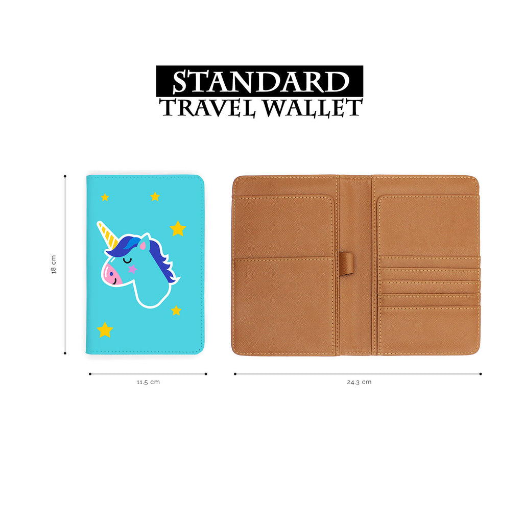 standard size of personalized RFID blocking passport travel wallet with Pop Art design