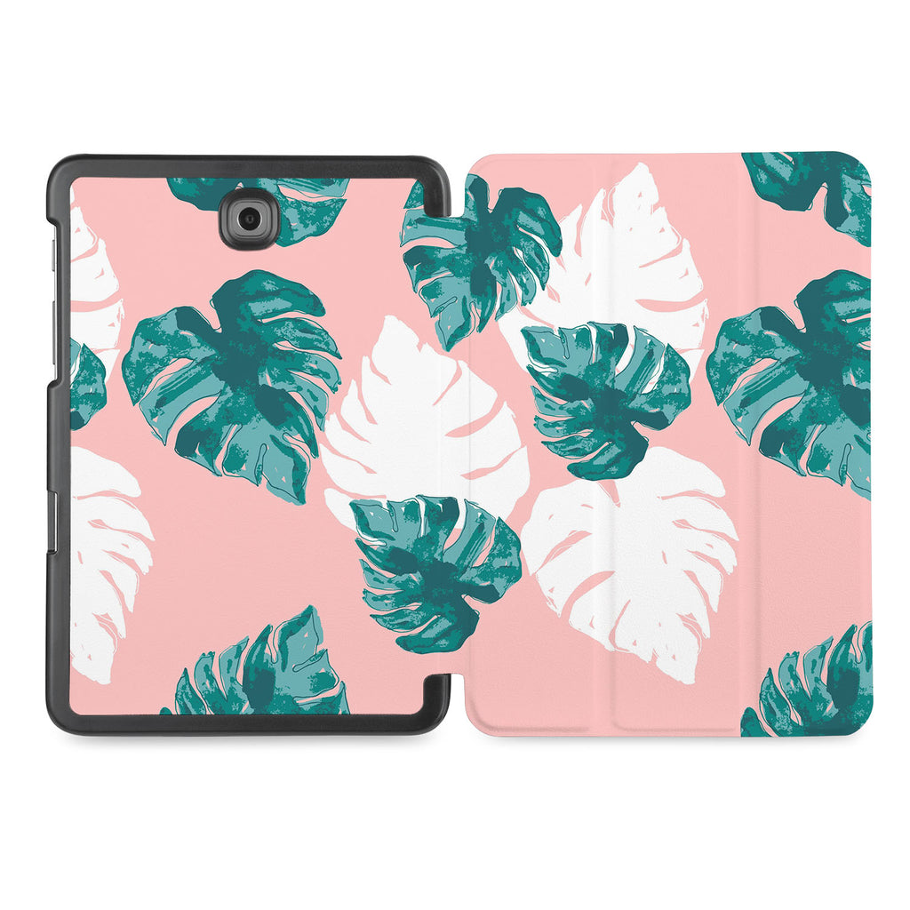 the whole printed area of Personalized Samsung Galaxy Tab Case with Pink Flower 2 design