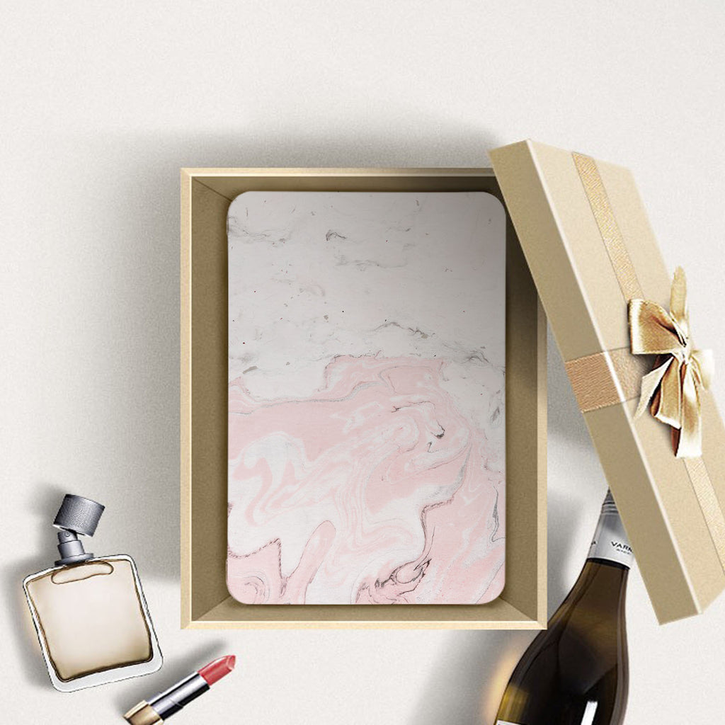 Personalized Samsung Galaxy Tab Case with Pink Marble design in a gift box
