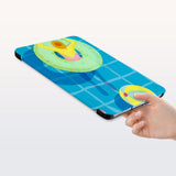 a hand is holding the Personalized Samsung Galaxy Tab Case with Beach design