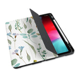personalized iPad case with pencil holder and Plants design