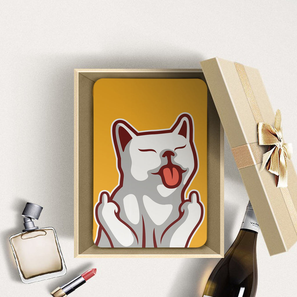 Personalized Samsung Galaxy Tab Case with Cat Fun design in a gift box