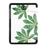 the back view of Personalized Samsung Galaxy Tab Case with Flat Flower design