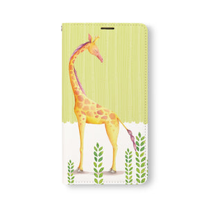 Front Side of Personalized Samsung Galaxy Wallet Case with CutestForestFriends design