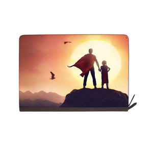 front view of personalized Macbook carry bag case with Father Day design
