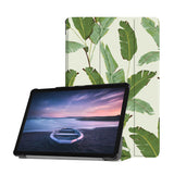 Personalized Samsung Galaxy Tab Case with Green Leaves design provides screen protection during transit