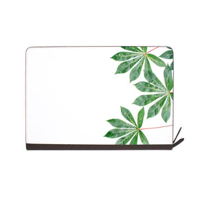 front view of personalized Macbook carry bag case with Flat Flower design