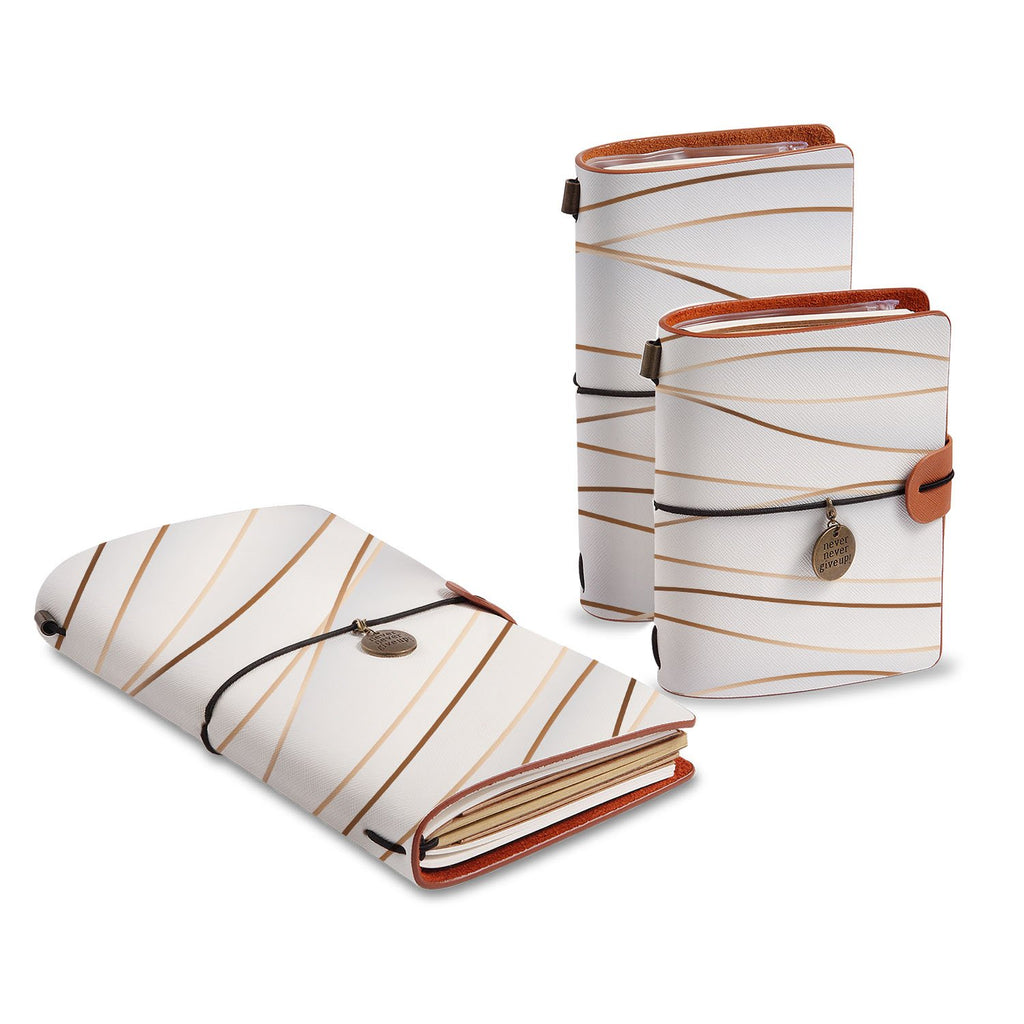 three size of midori style traveler's notebooks with Luxury design