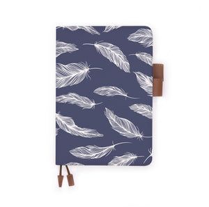 the front view of papermarker's diary with Feather pattern
