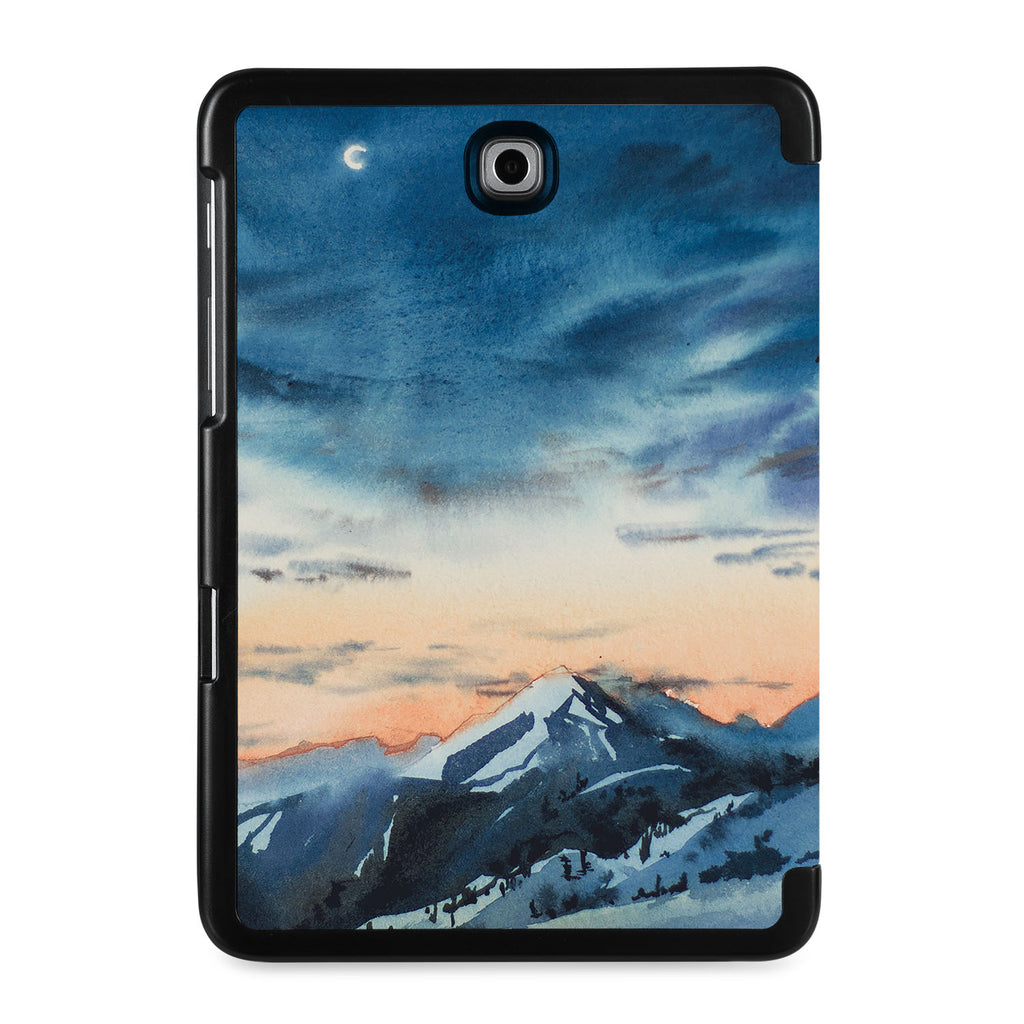 the back view of Personalized Samsung Galaxy Tab Case with Landscape design