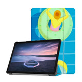 Personalized Samsung Galaxy Tab Case with Beach design provides screen protection during transit
