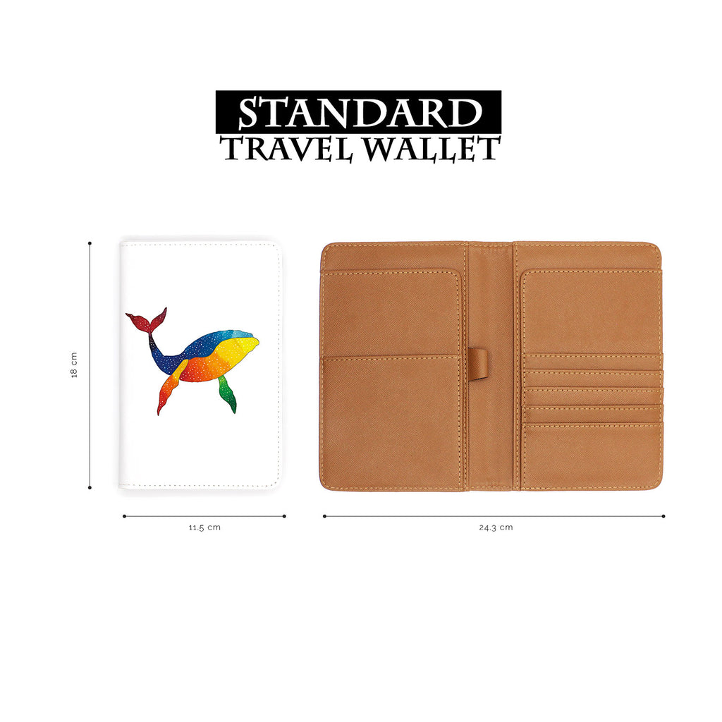 standard size of personalized RFID blocking passport travel wallet with Ocean Creature design