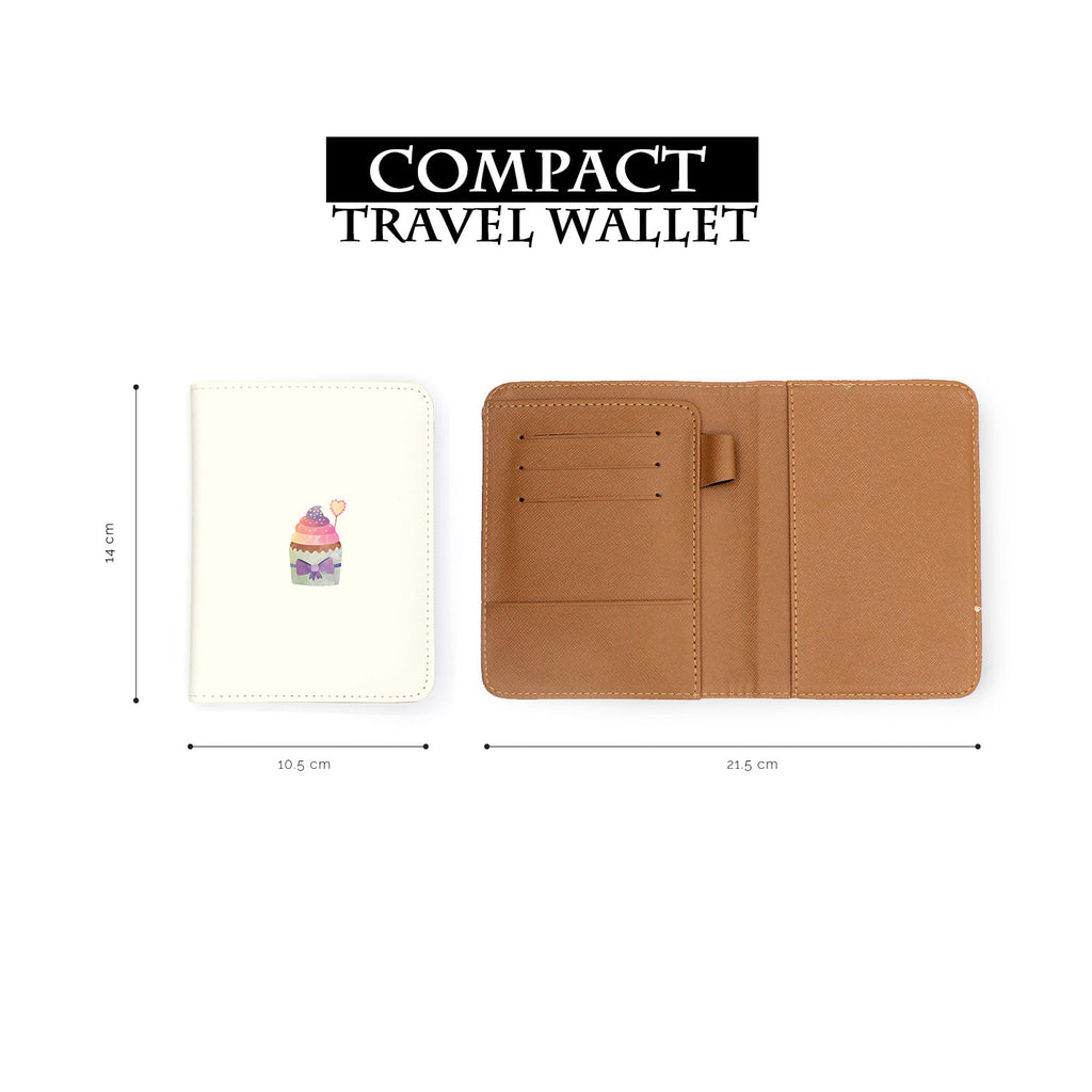 compact size of personalized RFID blocking passport travel wallet with Pumpkin Spice 2 design