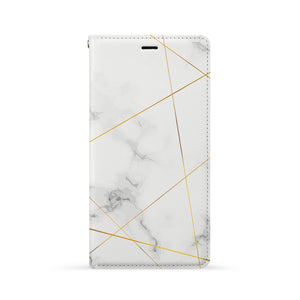 Front Side of Personalized iPhone Wallet Case with Marble 2020 design
