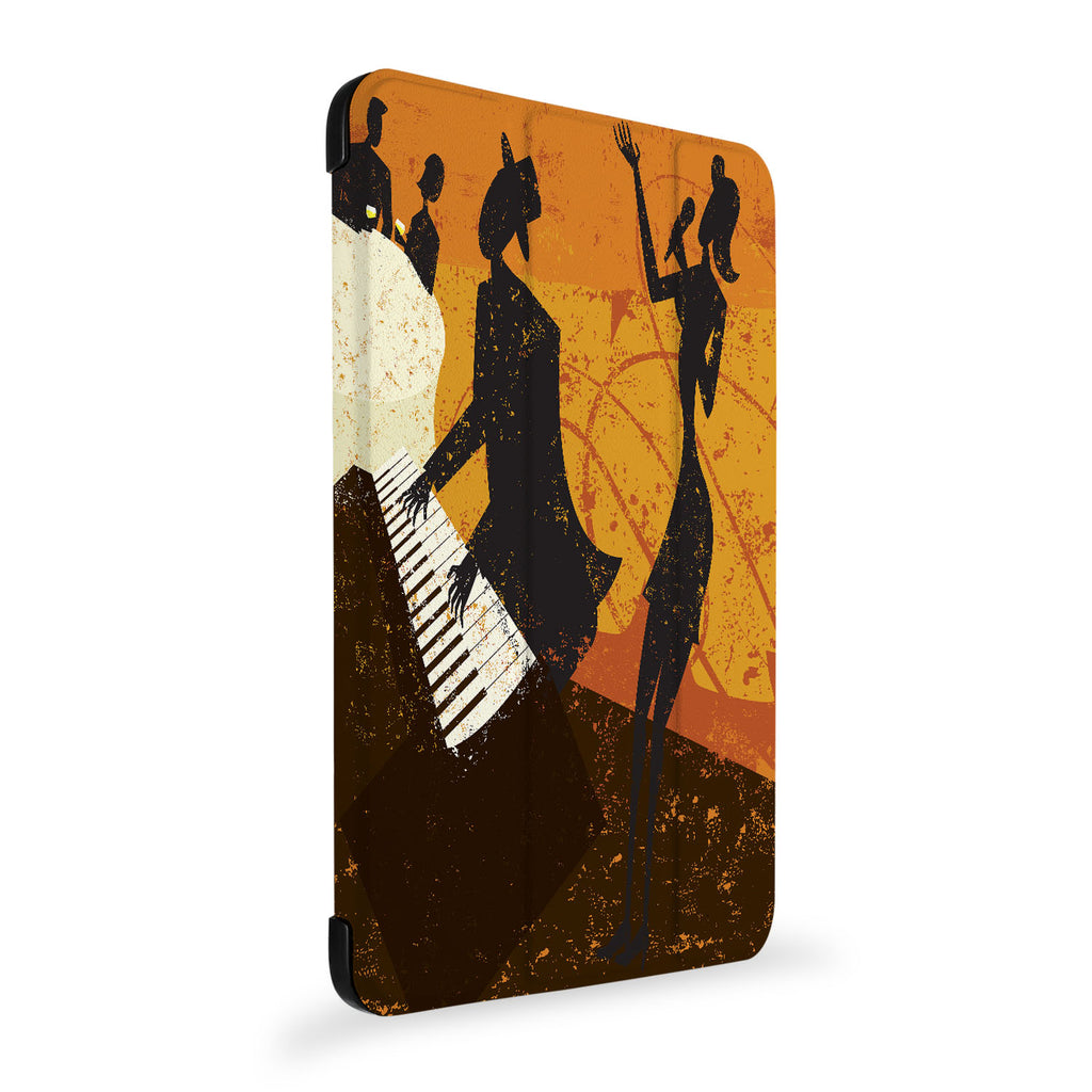 the side view of Personalized Samsung Galaxy Tab Case with Music design