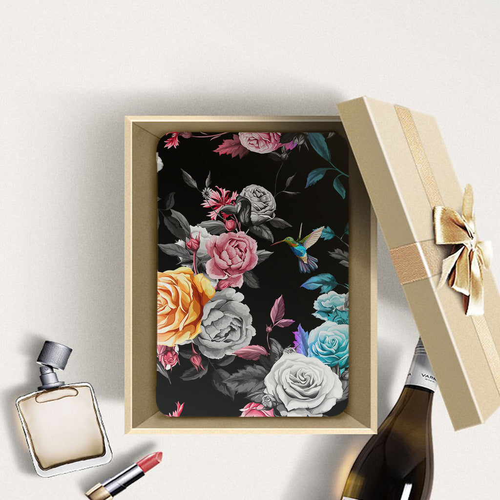 Personalized Samsung Galaxy Tab Case with Black Flower design in a gift box
