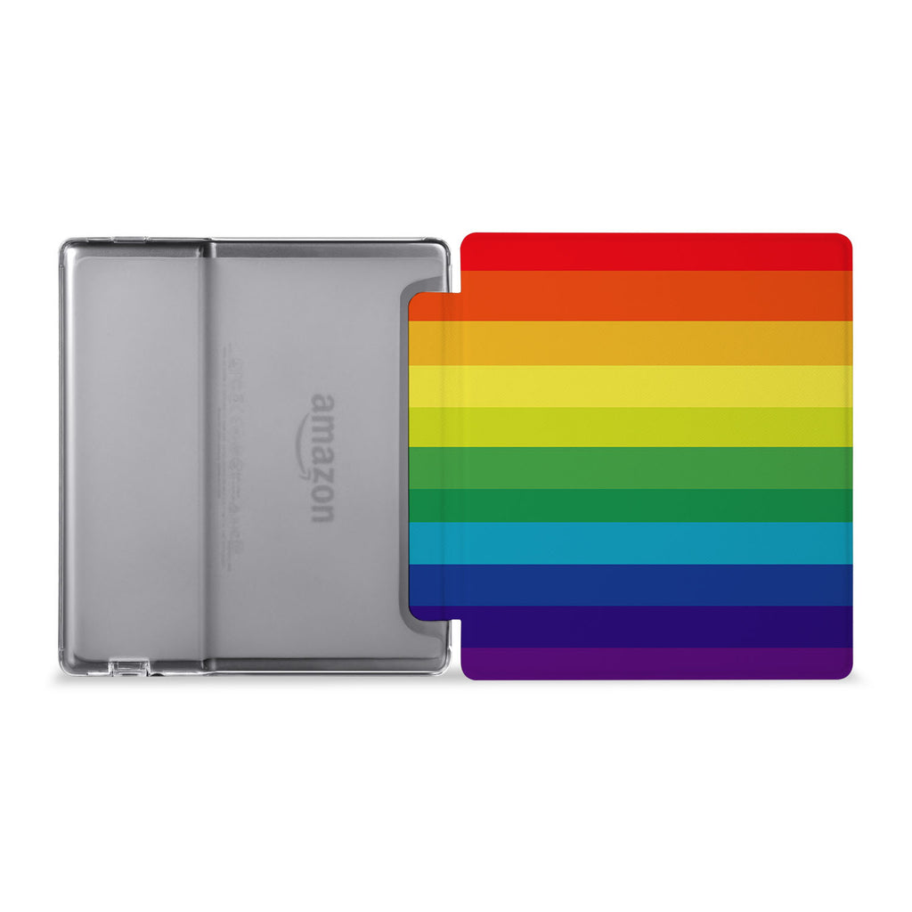 The whole view of Personalized Kindle Oasis Case with Rainbow design