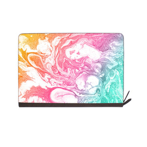 front view of personalized Macbook carry bag case with Abstract Oil Painting design