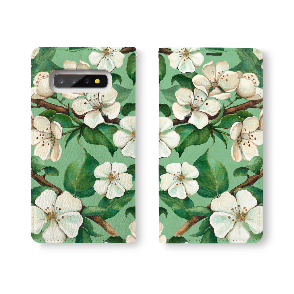 Personalized Samsung Galaxy Wallet Case with Flower desig marries a wallet with an Samsung case, combining two of your must-have items into one brilliant design Wallet Case.