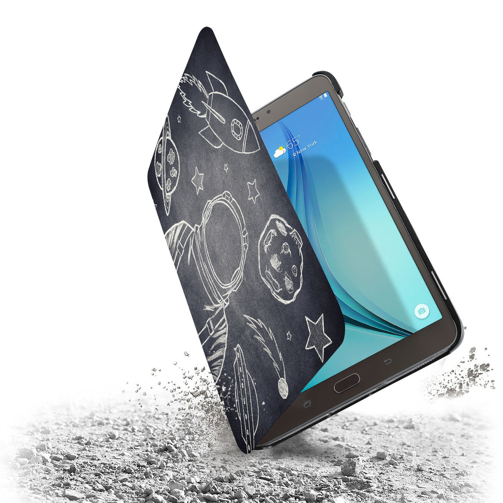 the drop protection feature of Personalized Samsung Galaxy Tab Case with Astronaut Space design