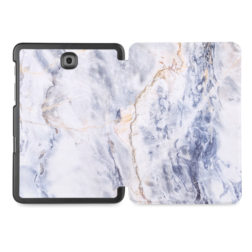 the whole printed area of Personalized Samsung Galaxy Tab Case with Marble design