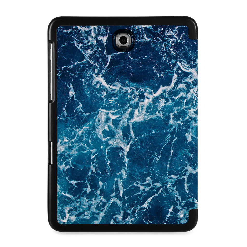 the back view of Personalized Samsung Galaxy Tab Case with Ocean design