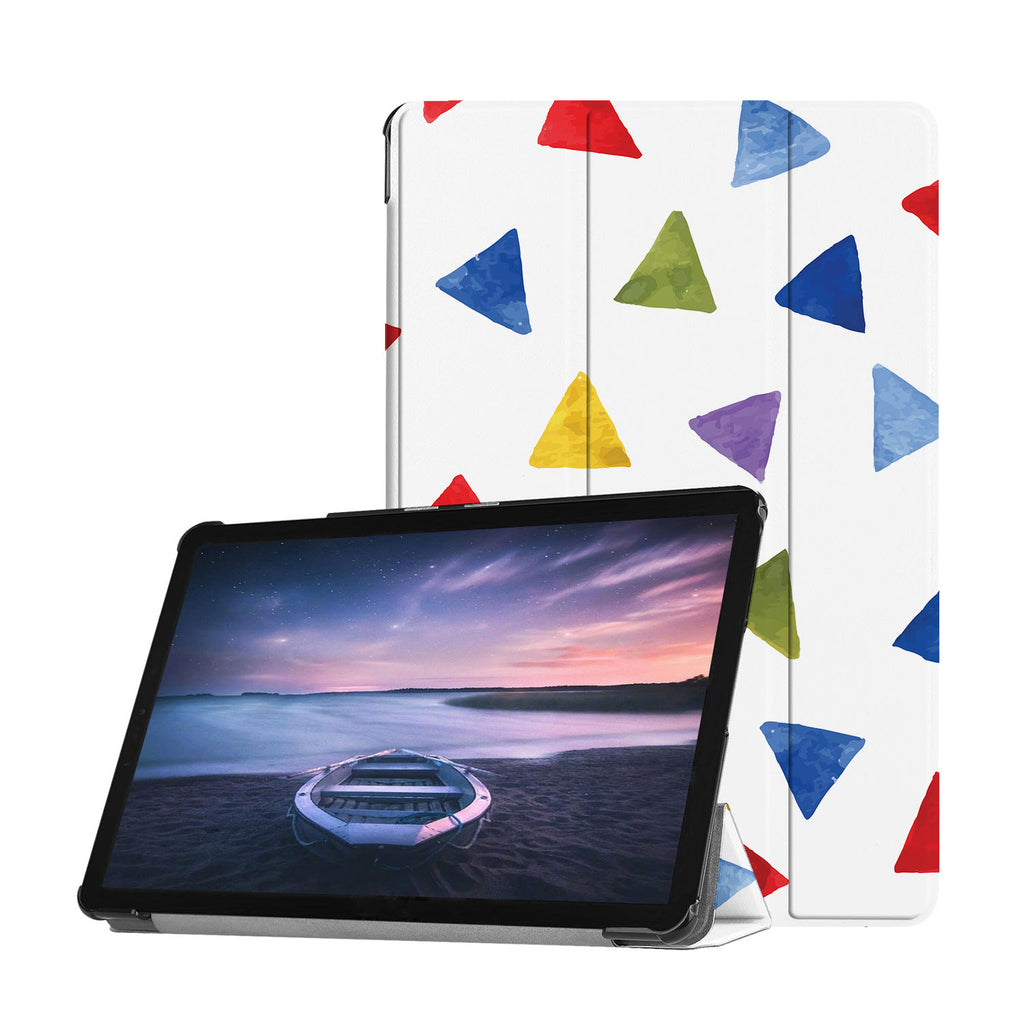 Personalized Samsung Galaxy Tab Case with Geometry Pattern design provides screen protection during transit