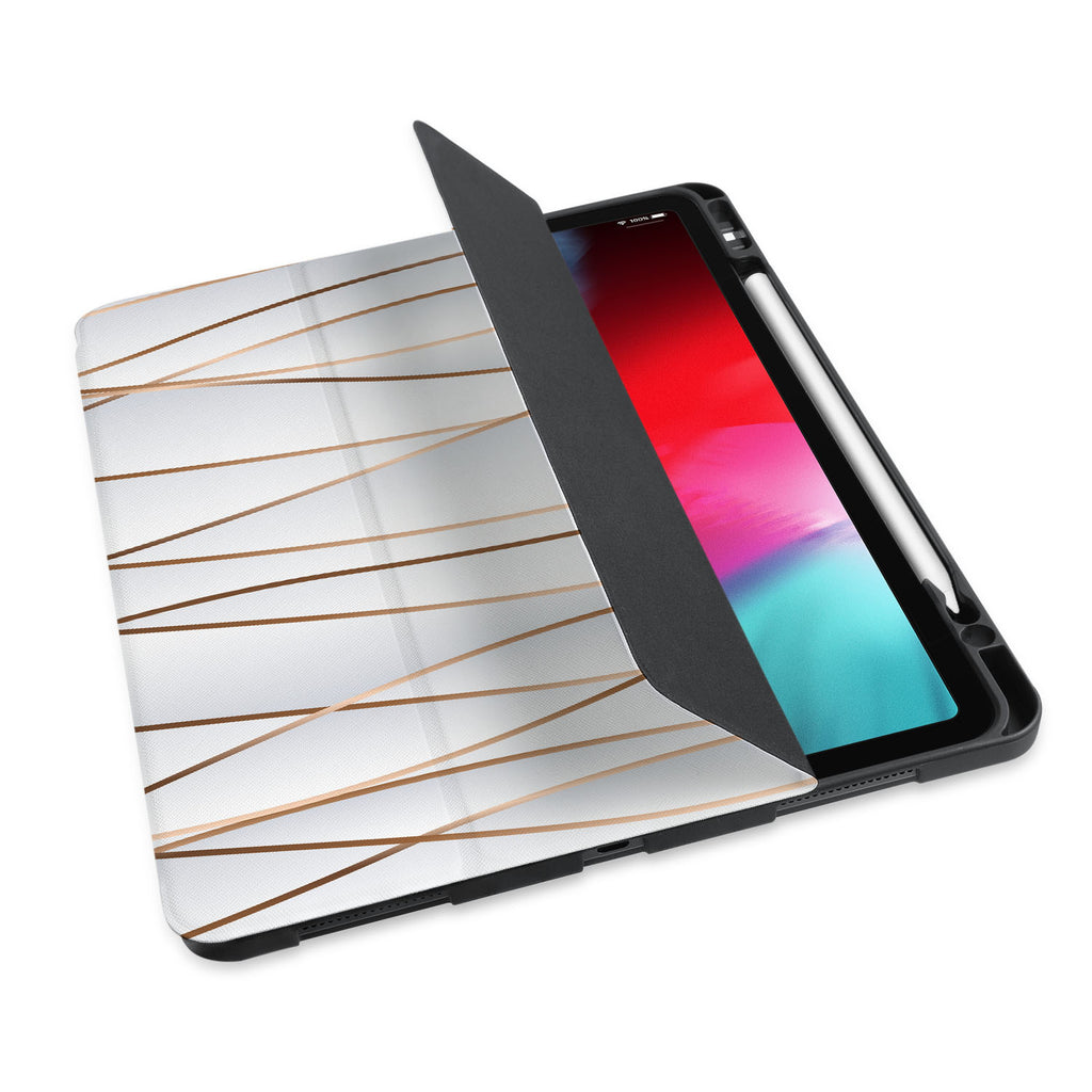 personalized iPad case with pencil holder and Luxury design - swap