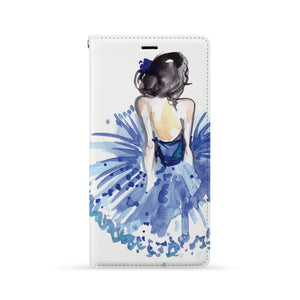 Front Side of Personalized iPhone Wallet Case with Musician design