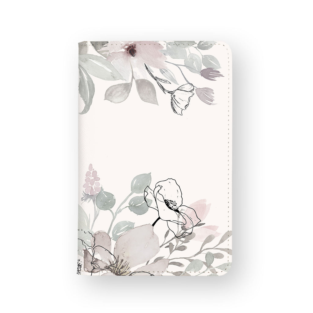 front view of personalized RFID blocking passport travel wallet with Blooming Spring design