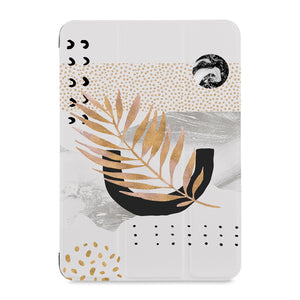 the front view of Personalized Samsung Galaxy Tab Case with Marble Flower design