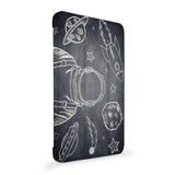 the side view of Personalized Samsung Galaxy Tab Case with Astronaut Space design