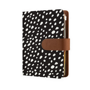 Organiser - Polka Dot- side view of personalized personal organiser - swap
