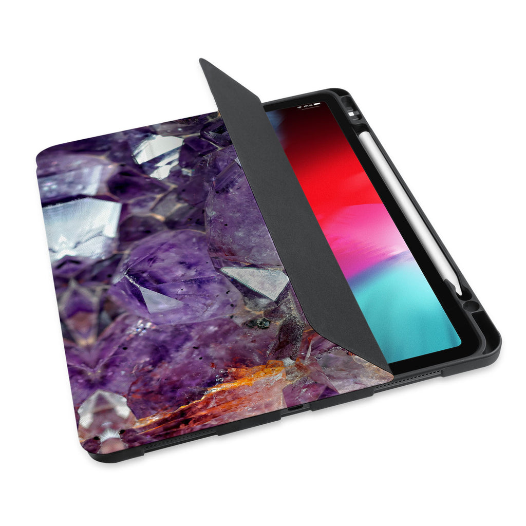 personalized iPad case with pencil holder and Gemstone design