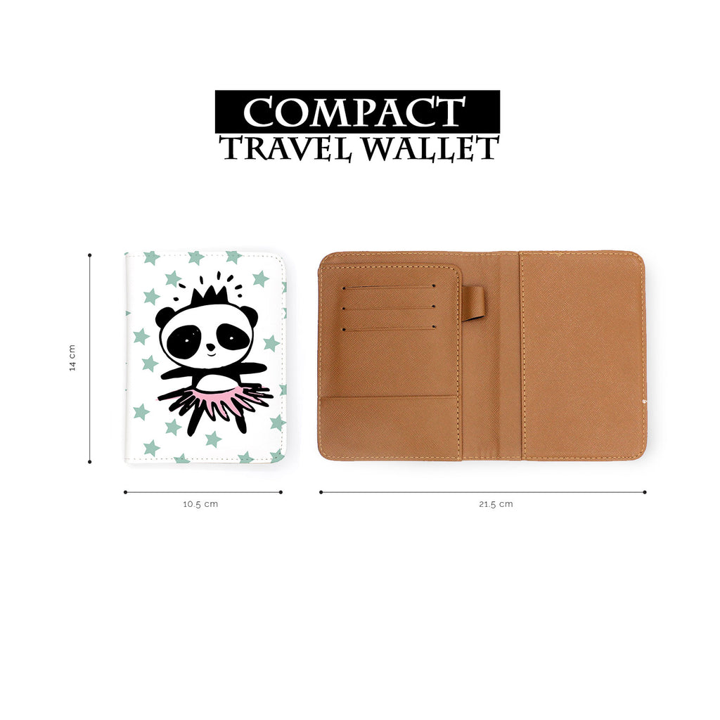 compact size of personalized RFID blocking passport travel wallet with Pandas design