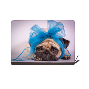 front view of personalized Macbook carry bag case with Dog design