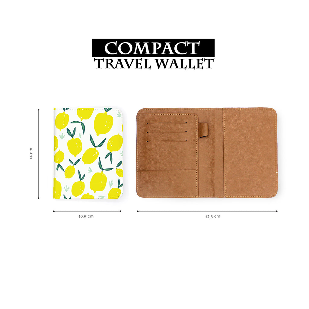compact size of personalized RFID blocking passport travel wallet with Summer Market design