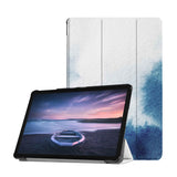 Personalized Samsung Galaxy Tab Case with Abstract Ink Painting design provides screen protection during transit