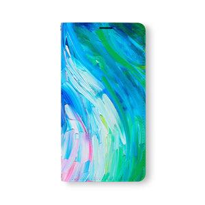 Front Side of Personalized Samsung Galaxy Wallet Case with AbstractPainting design