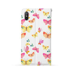 Back Side of Personalized iPhone Wallet Case with Butterfly design - swap