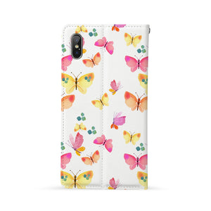 Back Side of Personalized Huawei Wallet Case with Butterfly design - swap