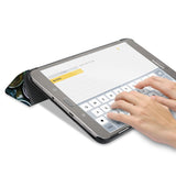 Personalized Samsung Galaxy Tab Case with Science design in keyboard typing mode