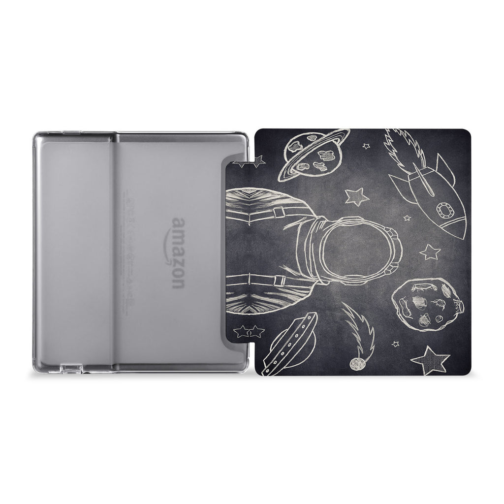 The whole view of Personalized Kindle Oasis Case with Astronaut Space design