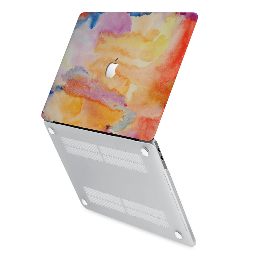 hardshell case with Splash design has rubberized feet that keeps your MacBook from sliding on smooth surfaces