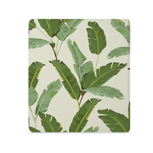 the Front View of Personalized Kindle Oasis Case with Green Leaves design - swap