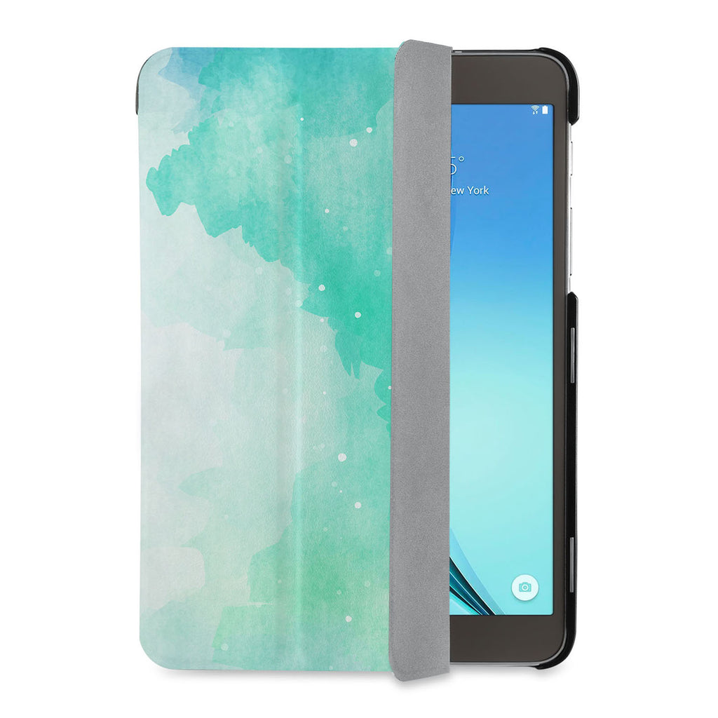 auto on off function of Personalized Samsung Galaxy Tab Case with Abstract Watercolor Splash design - swap