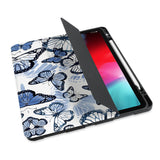 personalized iPad case with pencil holder and Butterfly design
