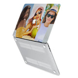 hardshell case with Photo Collage design has rubberized feet that keeps your MacBook from sliding on smooth surfaces